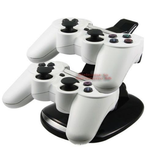 Brazil New Discount Wholesale LED Dual Controller Charger Dock Station Stand Charging For Playstation PS3 Batteries & Chargers