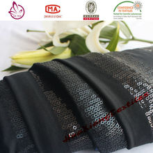 Alibaba china For home-use Silk 75% polyester 25% spandex embroidered knitted fabric