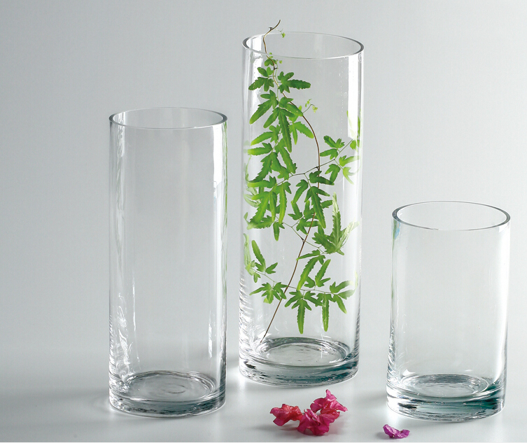 vase en verre transparent acrylique grand vase vases en verre vases en verre cristal id de. Black Bedroom Furniture Sets. Home Design Ideas