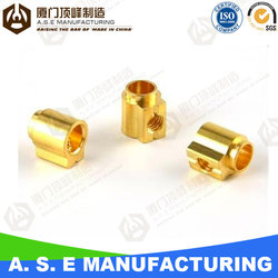 oem manufacturing bronze pipe fitting brass machining parts factory