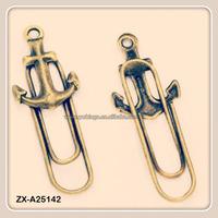 Anchor Hooks Antique Bronze Metal Book Marks