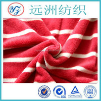 red and white stripe coral fleece fabric 2015 bedding set fabric
