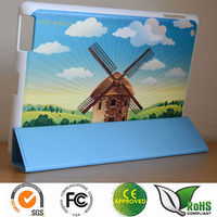 Custom Embossed hard case with smart cover for iPad