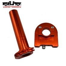 BJ-THS-001 Manufacture alloy orange ural aftermarket sportbike motorcycle parts throttle grip
