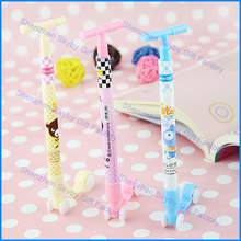 Colorful Creativd Standing Scooter Plastic Ball Pen