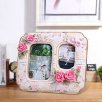 """2015 Factory Direct Sell frame picture decor resin college pink vintage multi photo frame wedding 4"""" x 6"""" 0.51kg BY001"""