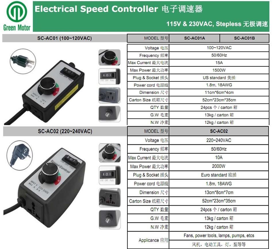 Electric Motor Speed Controller Buy Electric Motor Speed