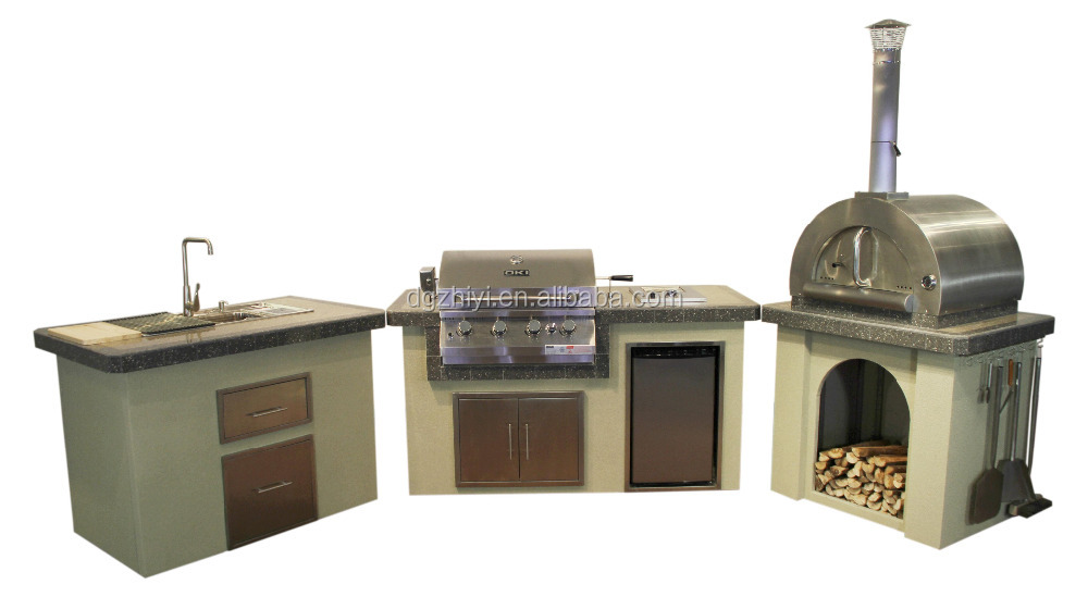 Steel Kitchen Cabinet With Outdoor Bbq Grill Buy Outdoor Bbq