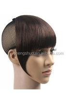 Women BOBO Head Style Oblique Bangs Short Straight Bang Hair Wigs Hairnet