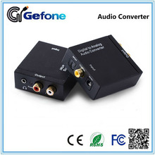 Factory supply Digital Optical Coaxial audio to Analog 2RCA and 3.5mm earphone output Audio Converter