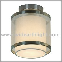 Brushed Nickel Two Layer Cover Guestroom Ceiling Lamp For Hotel C40702