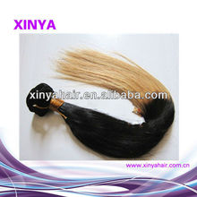Hot Trend Colored two toned indian remy hair straight black and blonde hair