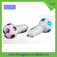 Football Design 5V1.5A cell phone car charger usb adapter
