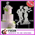"""De bodas deslumbrante"""" novia& novio"""" diseño de cristal adorno de torta para la venta"""
