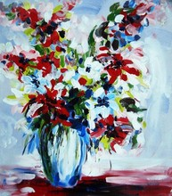 new knife flowers hand painted oil painting on canvas wholesale factory direct