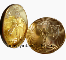 Michael Jackson 24K Gold Plated Colorzied coin gift