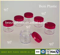 10g 20g PS mini cream jar, small cosmetic cosmetic container