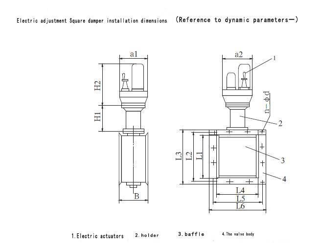 motorized damper  electric damper actuator china  mainland