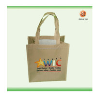eco friendly transfer printing jute shopping tote bag