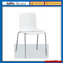 GY-618 New Design ABS Seat and Back White Dining Chair with Low Price