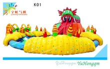 Octopus giant inflatable water slide//inflatable water park