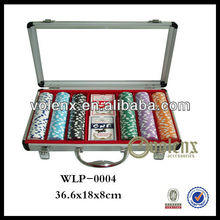 Luxury 300 Poker Chips Sets Wholesale with Aluminum Case(SGS & BV )