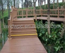 Flexible and optional to use different post and color for the WPC railing