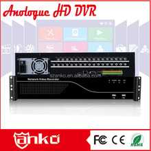 Low cost 16ch ahd dvr 720p 8*4T free client software h.264 dvr AHD