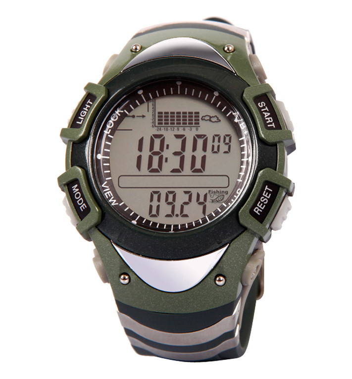 Military Men's Digital Fishing Sport Wristwatch Barometer Thermometer Altimeter Monitor Storm Warning Weather 6 Spot Data Record