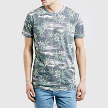 Men clothing popular Globe Washed Black Jungle Fancy Print t shirt design
