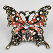 Different Types Of Pendant Chains Jewelry Enamel Animal Butterfly Shape Pendant