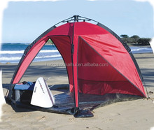 durable polyester fabric beach tent with fiberglass pole