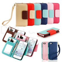PU Leather Mobile Cell Bag Phone Case For Iphone 5/5S