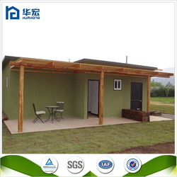Modern design easy assembled flat roof economic house pre fabricated