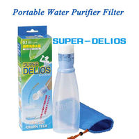 Easy and portable water filter purifier SUPER DELIOS / french mineral water brands