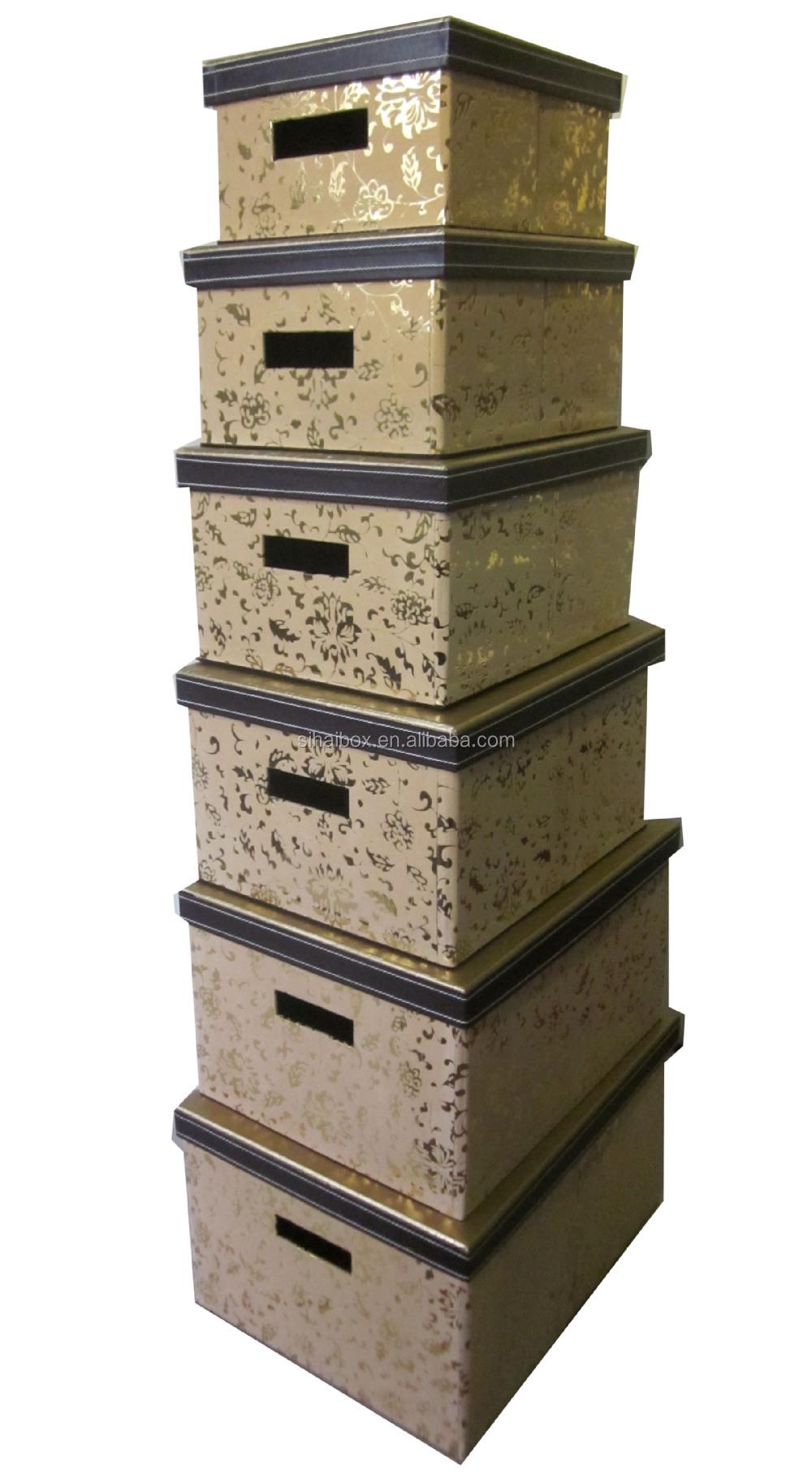 Decorative Boxes In Bulk : Wholesale foldalbe decorative cardboard fabric storage