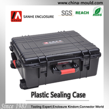 45-19 plastic equipment case with wheel and scalable tie rod made in china