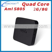 Android 4.4 XBMC 14.0 Smart tv box MXQ Quad Core Tv Box Android 4.4 8G Rom Google Tv Box EU UK US Plug All Stock