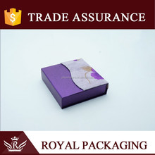 New designed violet paper decorating box with light purple gauze for birthday gift festival gift craft packaging