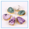 2014 Fashion Necklace Crystal Quartz Druzy Pendant Connector,Semi Precious Stone Beads