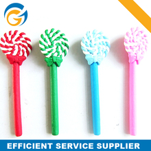 Rubber Square Material 4 Color Candy Cane Pen