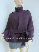 fashion 100% acrylic knitting shawl and poncho