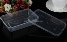 4 volumes for option disposable plastic food container