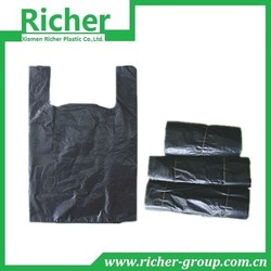 low moq decorative plastic t-shirt bags making raw materials