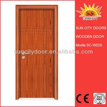 Interior design of wood restaurant door