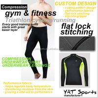 Triathlon Running Cycling sports training fleece fabrics underwear tops and bottoms Set Winter thermal Underwear