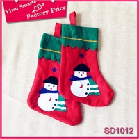 2015 hot selling christmas decoration and gifts ,Funny character snowman design christmas socks in factorty price wholesale