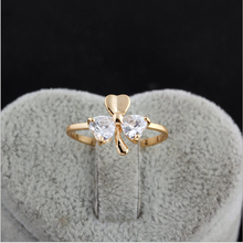 New products 2016 compact goog looking models clover cubic zircon ring