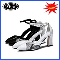 Wholesale Sexy Snake Print Leather High Heel Women's Dress Shoes