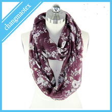 2014 newest original design 100 % polyester infinity scarf